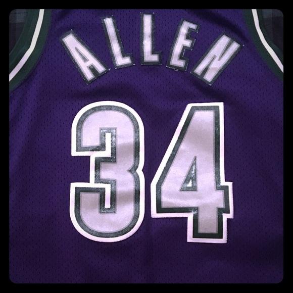size 40 37285 84958 Nike Elite Milwaukee Bucks M Ray Allen Jersey